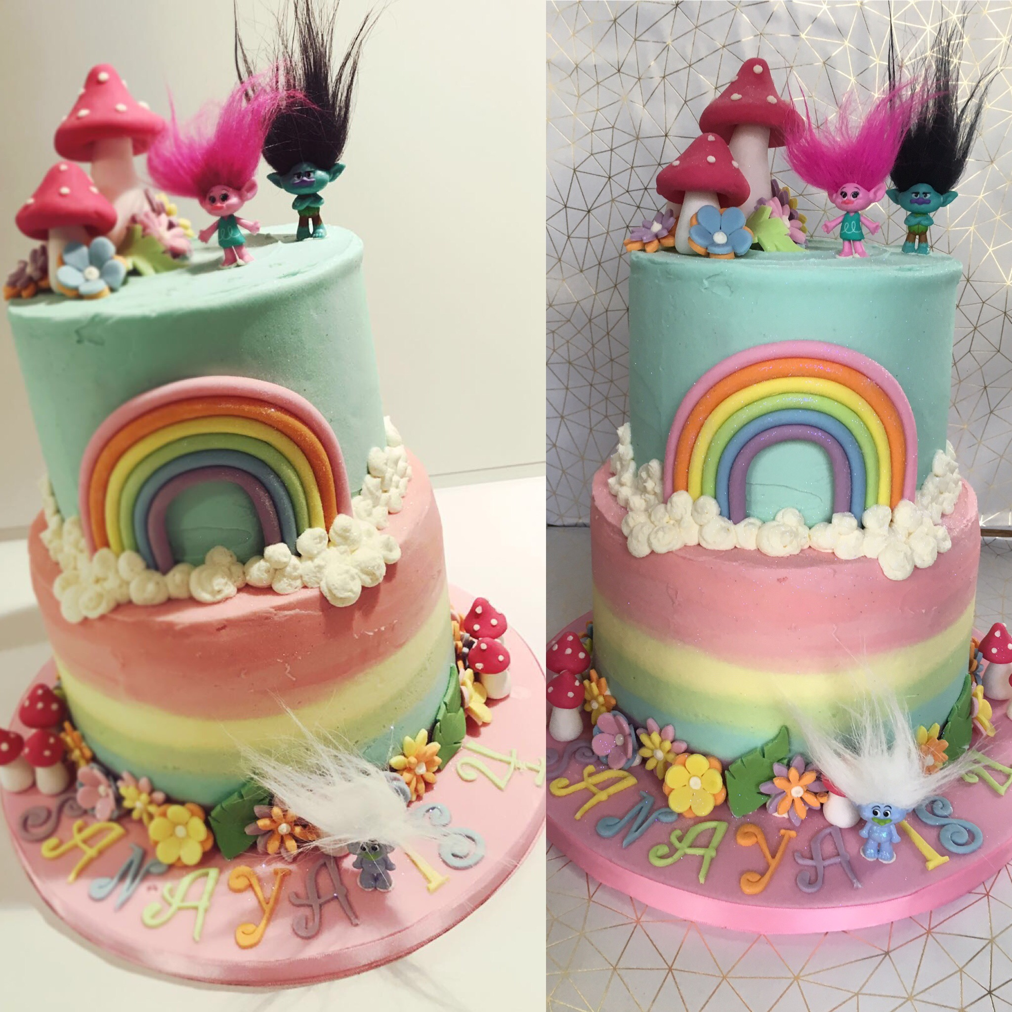 Trolls Birthday Cake London