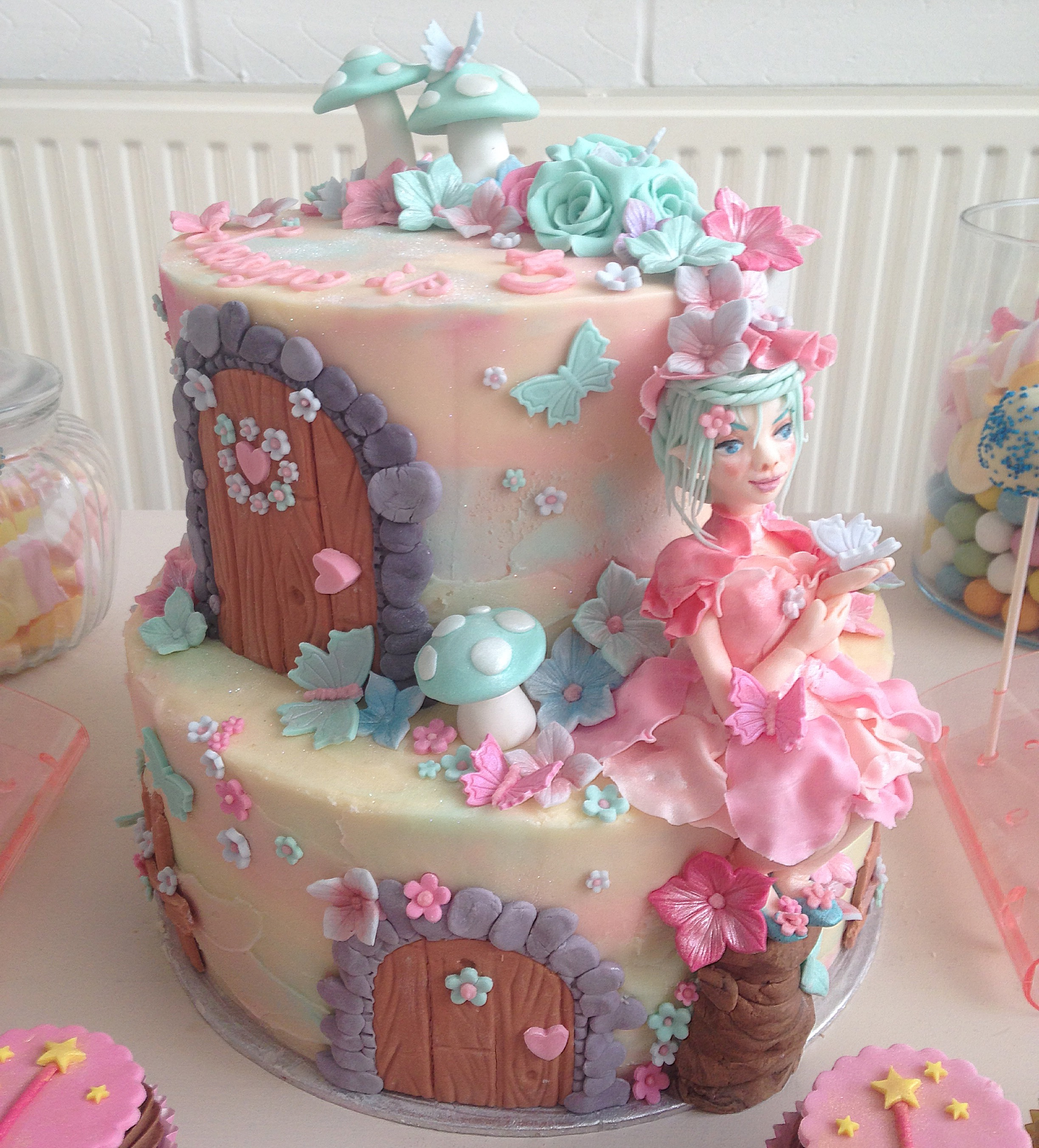 Fairy Theme Birthday Cake