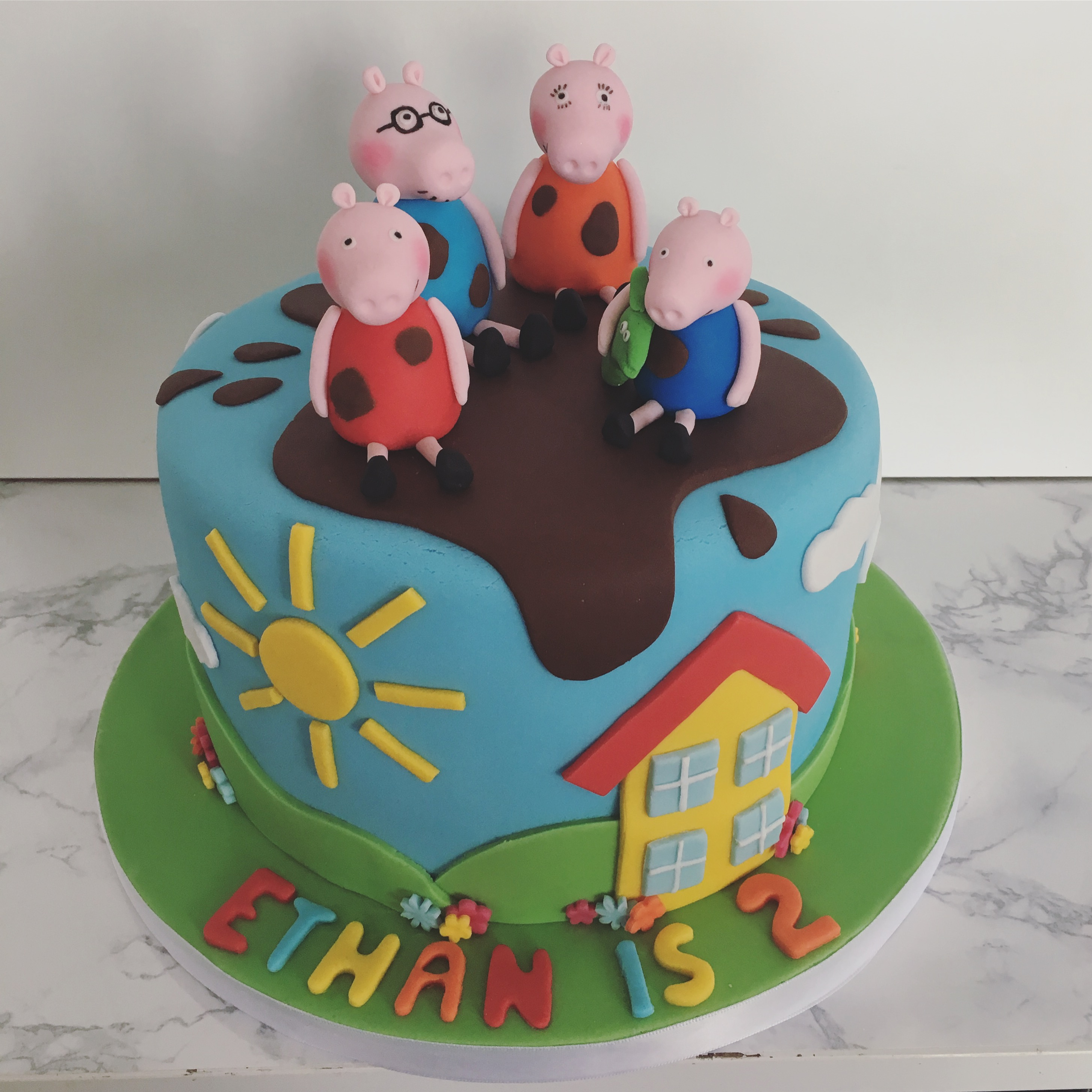 Peppa Pig Birthday Cake Crumbs Couture Cupcakes