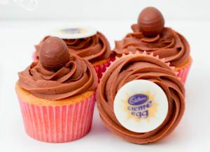 Branded Cupcakes London, logo cupcakes london, corporate cupcakes London