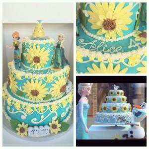 Children's birthday cakes, frozen cake
