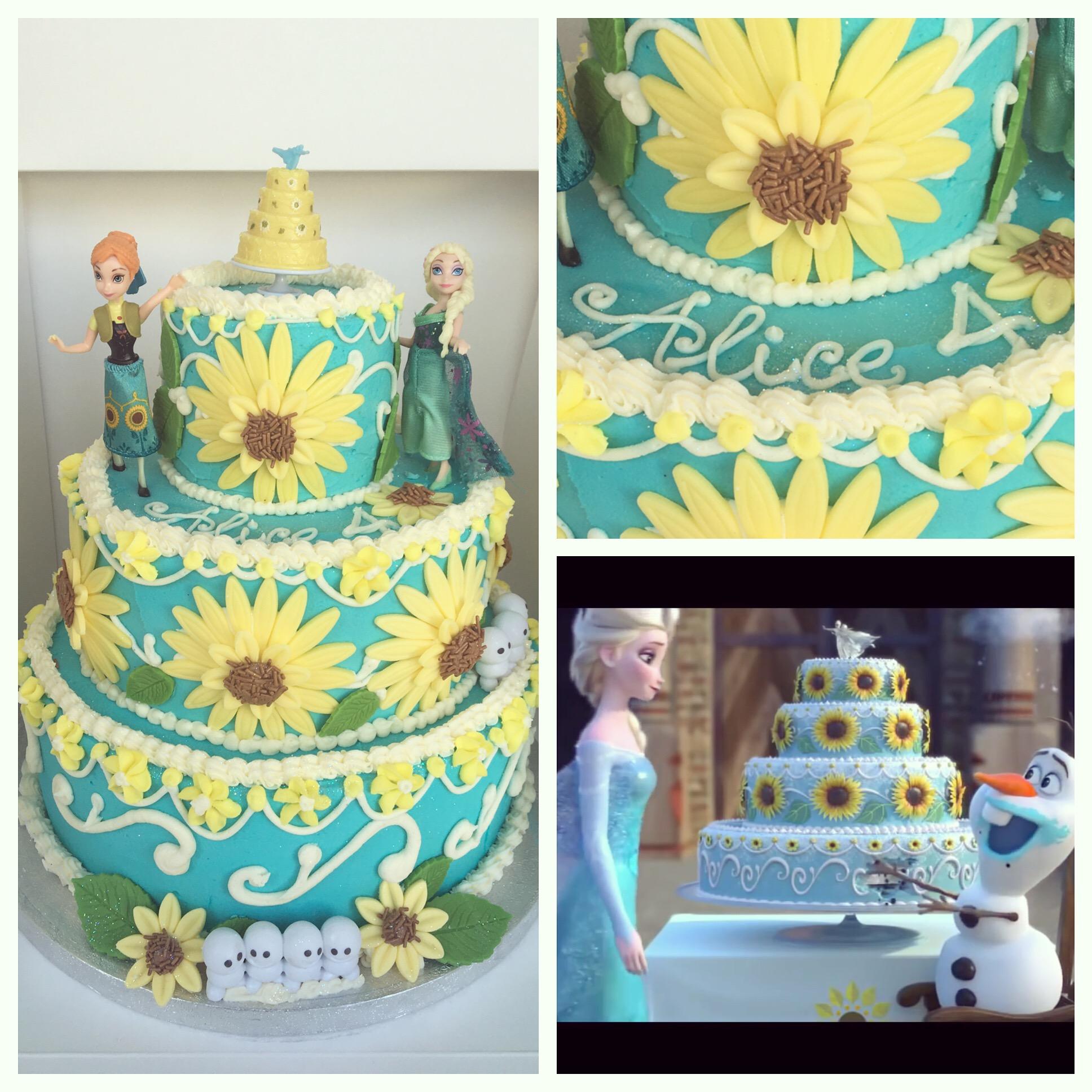 Frozen Fever Cake Happy 4th Birthday Alice Crumbs